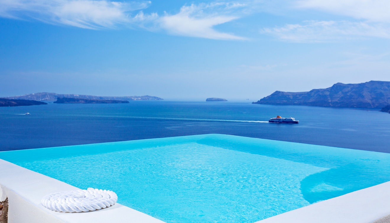 infinity pool suite canaves oia santorini. Black Bedroom Furniture Sets. Home Design Ideas