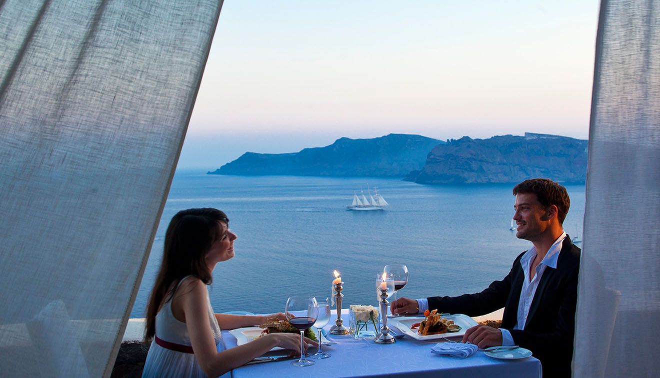 Santorini Luxury Hotel Private dining