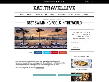 2016 Canaves O Eat Travel Love Featured
