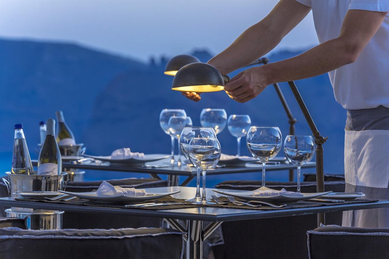 Petra Restaurant Menu Santorini