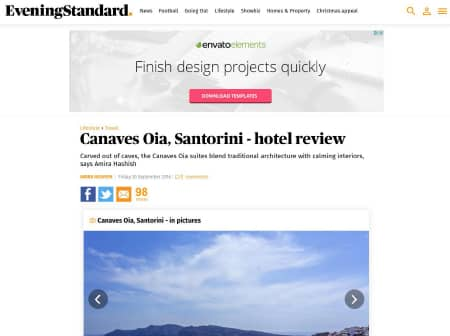 2016 Canaves O Evening Standard Featured