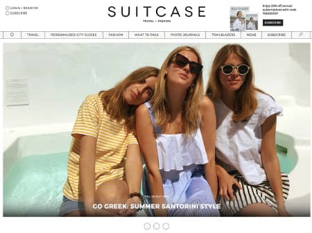 2016 Canaves O Suitcase Magazine Featured