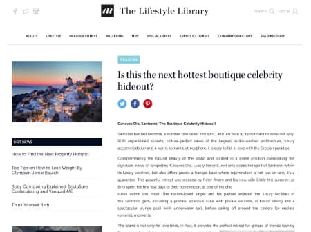 2016 Canaves O The Lifestyle Library Featured
