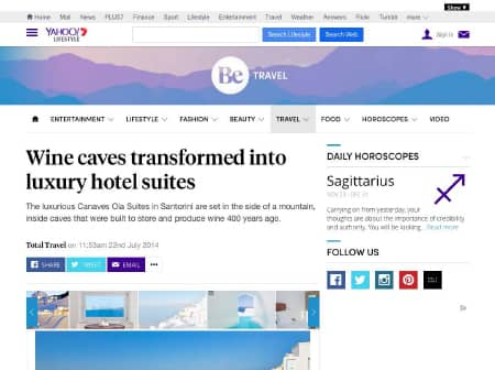 2016 Canaves O Yahoo Travel Featured