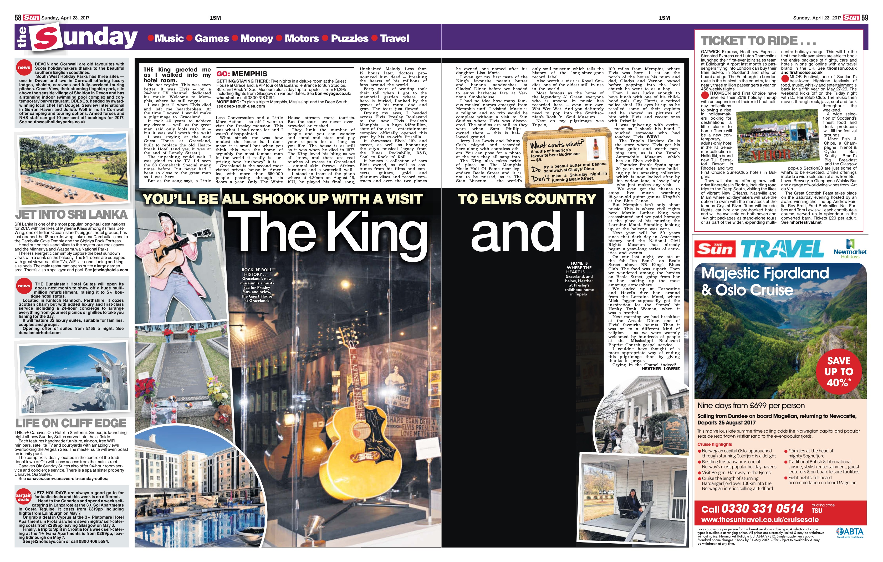 2017 Canaves P Sunday Suites Scottish Sun Article
