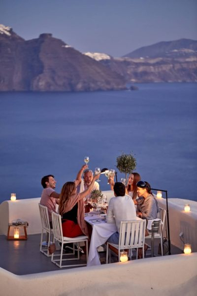 Canaves Oia Suites – Panorama Balcony Dinner Experience3