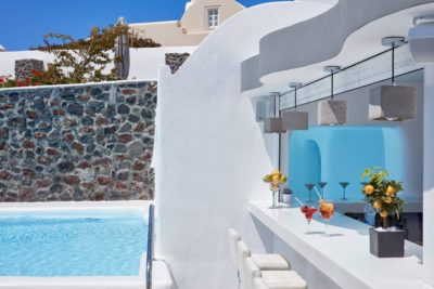 Canavs Oia Hotel – Infinity Pool Bar Restaurant (1)